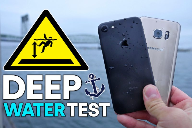 Resistenza all'acqua: iPhone 7 vs Samsung Galaxy S7!